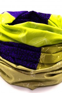 Damen Loop Schal grün lila