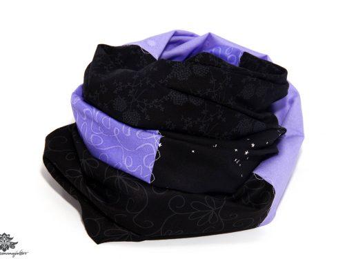 Damen Loop Schal lila schwarz