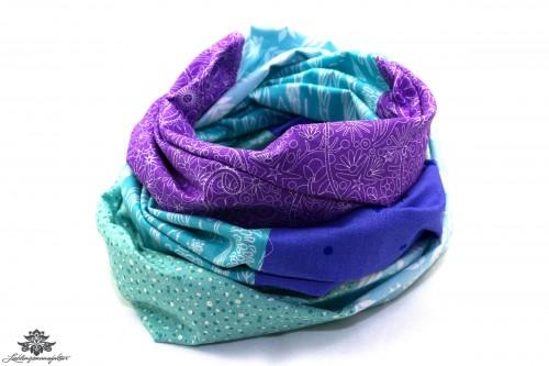 Damen Loop Schal türkis lila