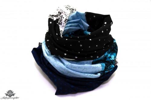 Damen Schals blau schwarz weiss