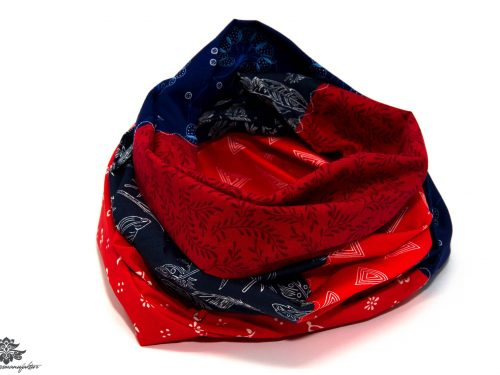 Damen Schals rot blau