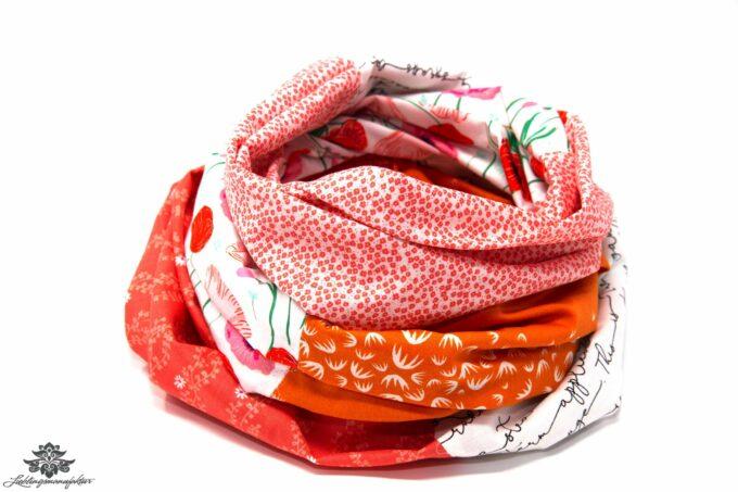 Damen Schals weiss orange