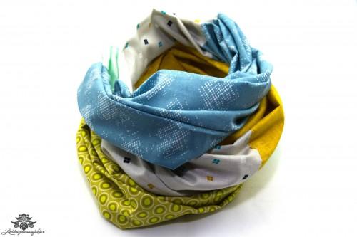 Designer Loop Schal blau bunt