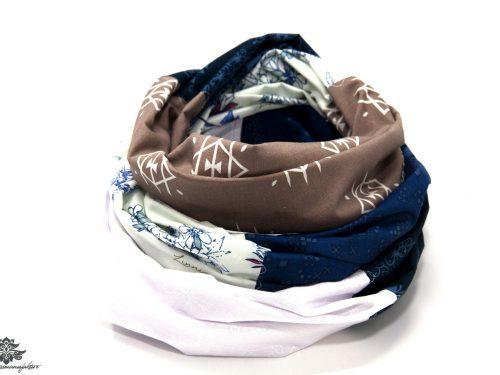 Designer Loop Schals beige blau