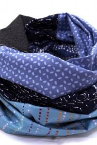 Designer Loop Schals blau grau