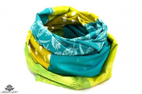 Designer Loop Schals grün blau