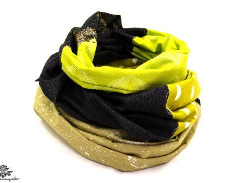 Designer Loop Schals grün schwarz