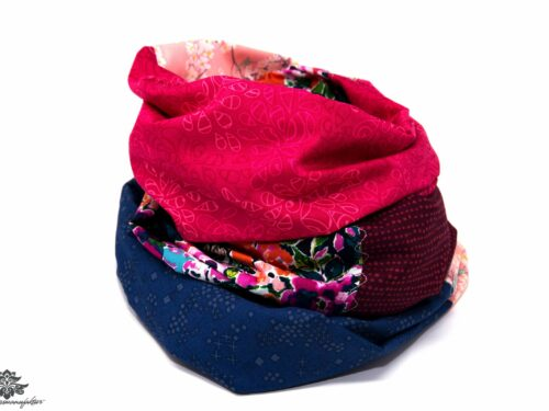 Designer Loop Schals pink blau