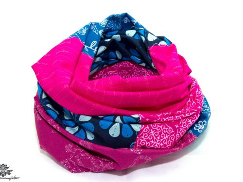 Designer Loop Schals pink marineblau