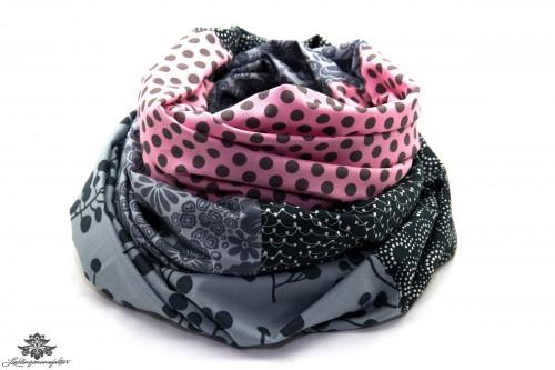 Designer Loop Schals rosa grau