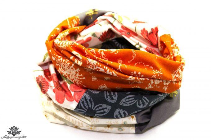 Graues Tuch orange
