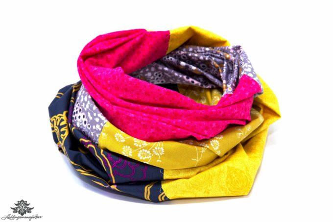 Kleidung aufpeppen Tuch gelb