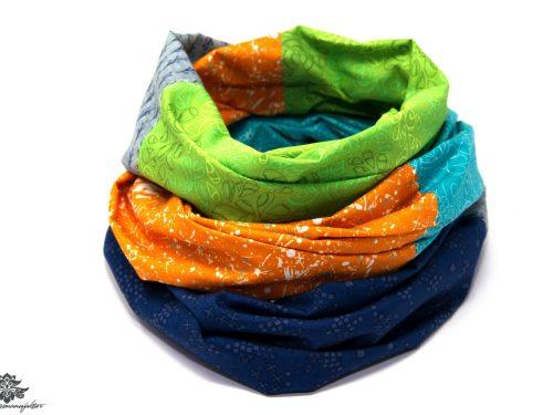 Kleidung aufpeppen Tuch orange