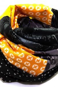 Kleidung aufpeppen Tuch orange gelb