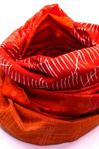 Kleidung aufpeppen Tuch orange rot