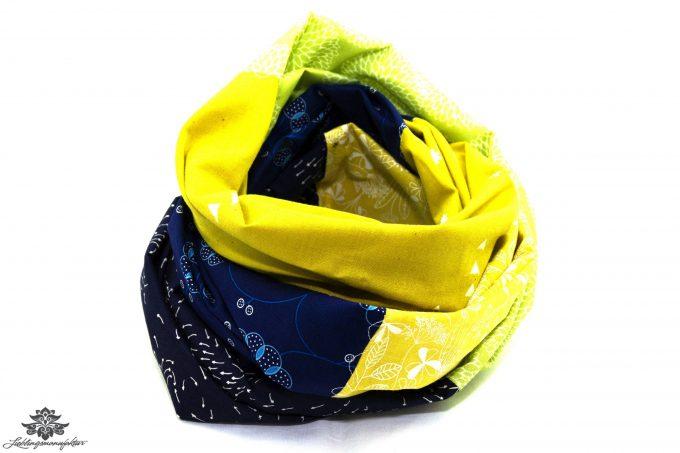 Loop Schal Blumen blau