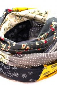 Loop Schal Blumen grau