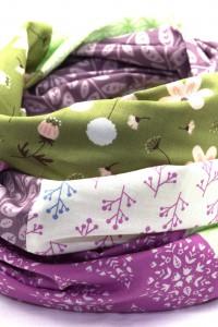 Loop Schal Blumen lila