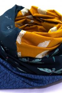 Loop Schal Somer gelb dunkelblau