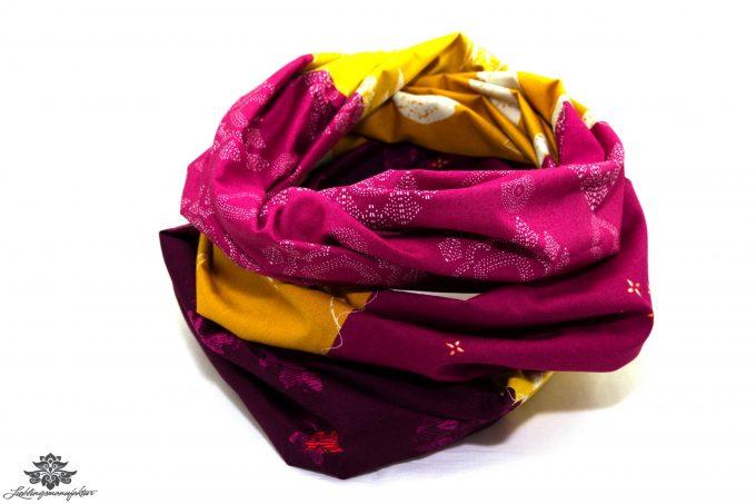 Loop Schal Sommer gelb pink