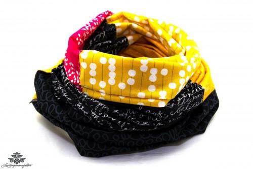 Loop Schal Sommer gelb schwarz pink
