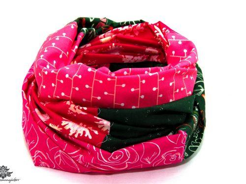 Loop Schal Sommer grün pink