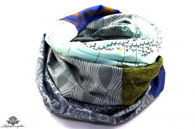 Loop Schal Tuch blau