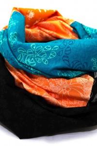 Loop Schal Tuch bunt blau Kleid aufpeppen