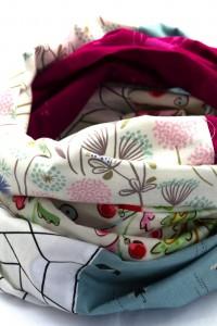 Loop Schal Tuch bunt pink Kleid aufpeppen