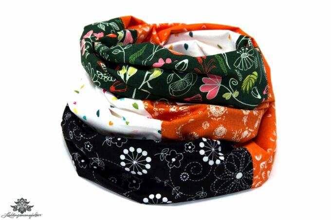 Loop Schal Tuch bunt schwarz Kleid aufpeppen