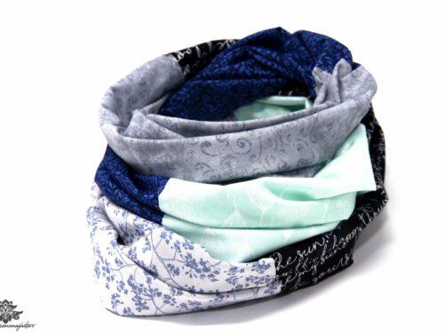 Loop Schal blau grau