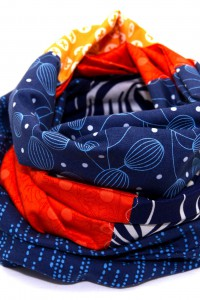Loop Schal blau orange
