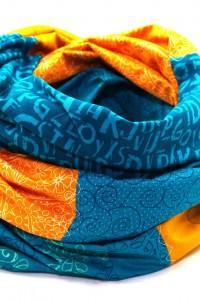 Loop Schal blau orange