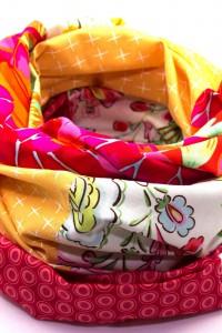 Loop Schal bunt Blumenmuster Sommer
