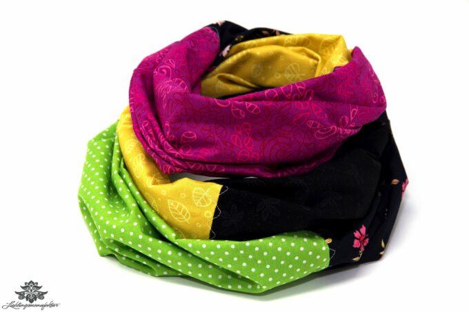 Loop Schal bunt gelb berry grün