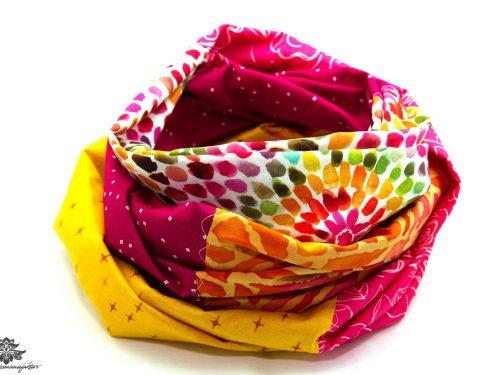 Loop Schal bunt pink gelb
