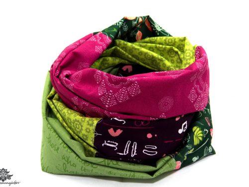 Loop Schal bunt pink grün