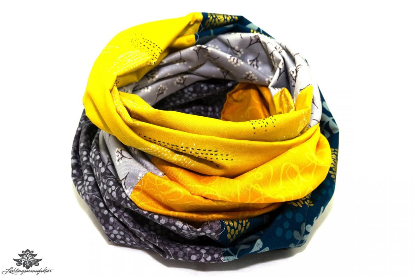 Premium-Auswahl Online-Verkauf Original kaufen Loop Schal grau gelb aus der Lieblingsmanufaktur