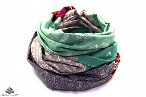 Loop Schal grau grün