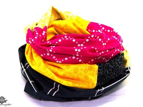 Loop Schal pink gelb