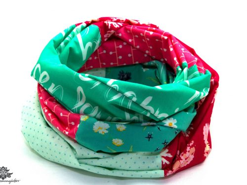 Loop Schal pink mint