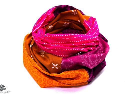 Loop Schal pink orange