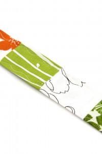 Patchwork Schlüsselanhänger weiss grün