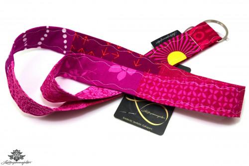 Patchwork Schlüsselband Farbe pink