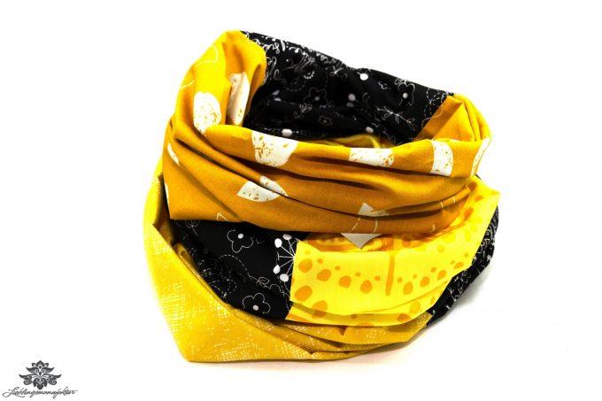 Patchwork Tuch gelb