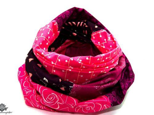 Patchwork Tuch pink