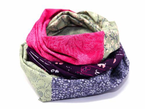 Pink grüner Loop Schal