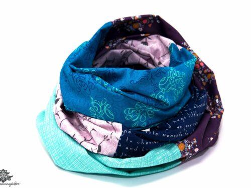 Schal blau türkis