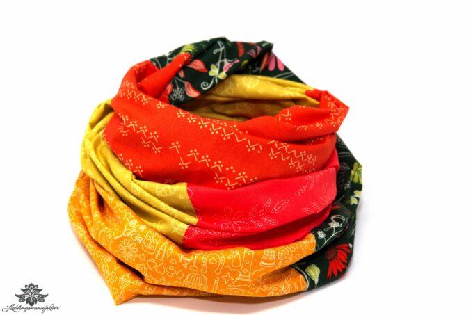 Schal gelb orange