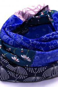 Schal lila dunkelblau